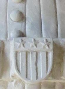 Armoirie sculptée. Chapelle St-Antoine, La Sarraz.